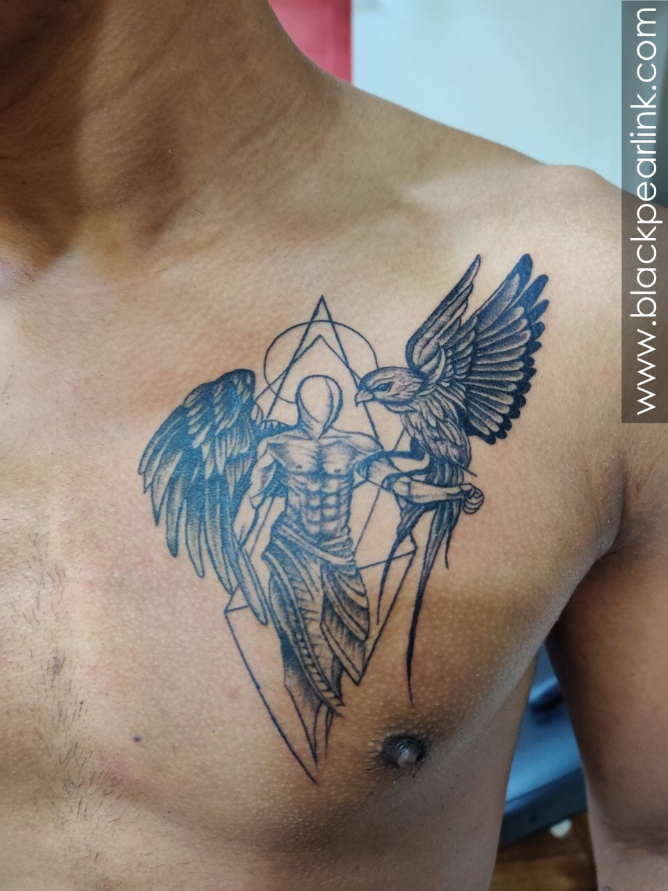 Angel Tattoo on Chest