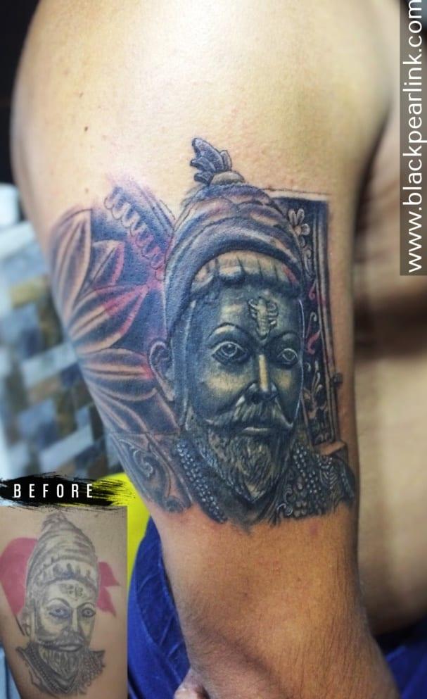 Chhatrapati Shivaji Maharaj Coverup Tattoo