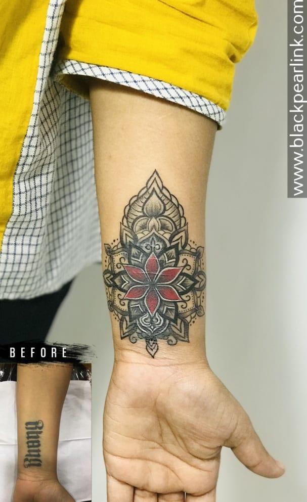 Coverup with Mandala on Wrist