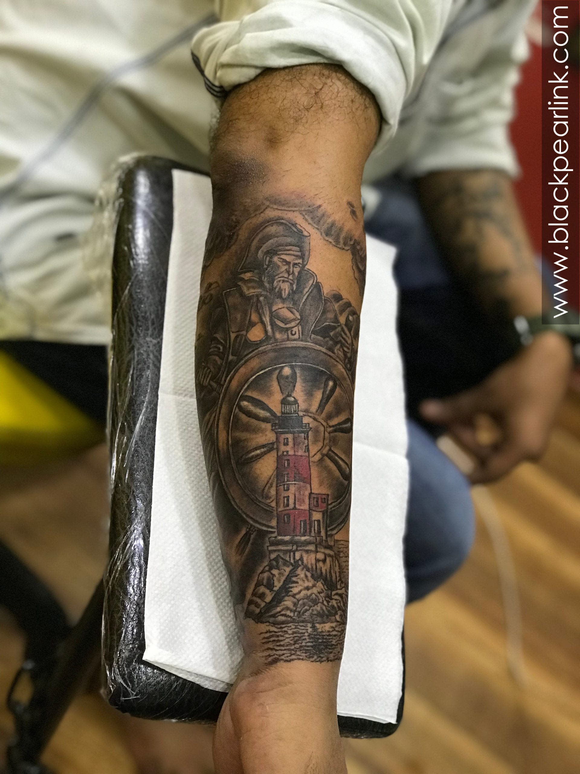 Life of a Pirate on Forearm Sleeve