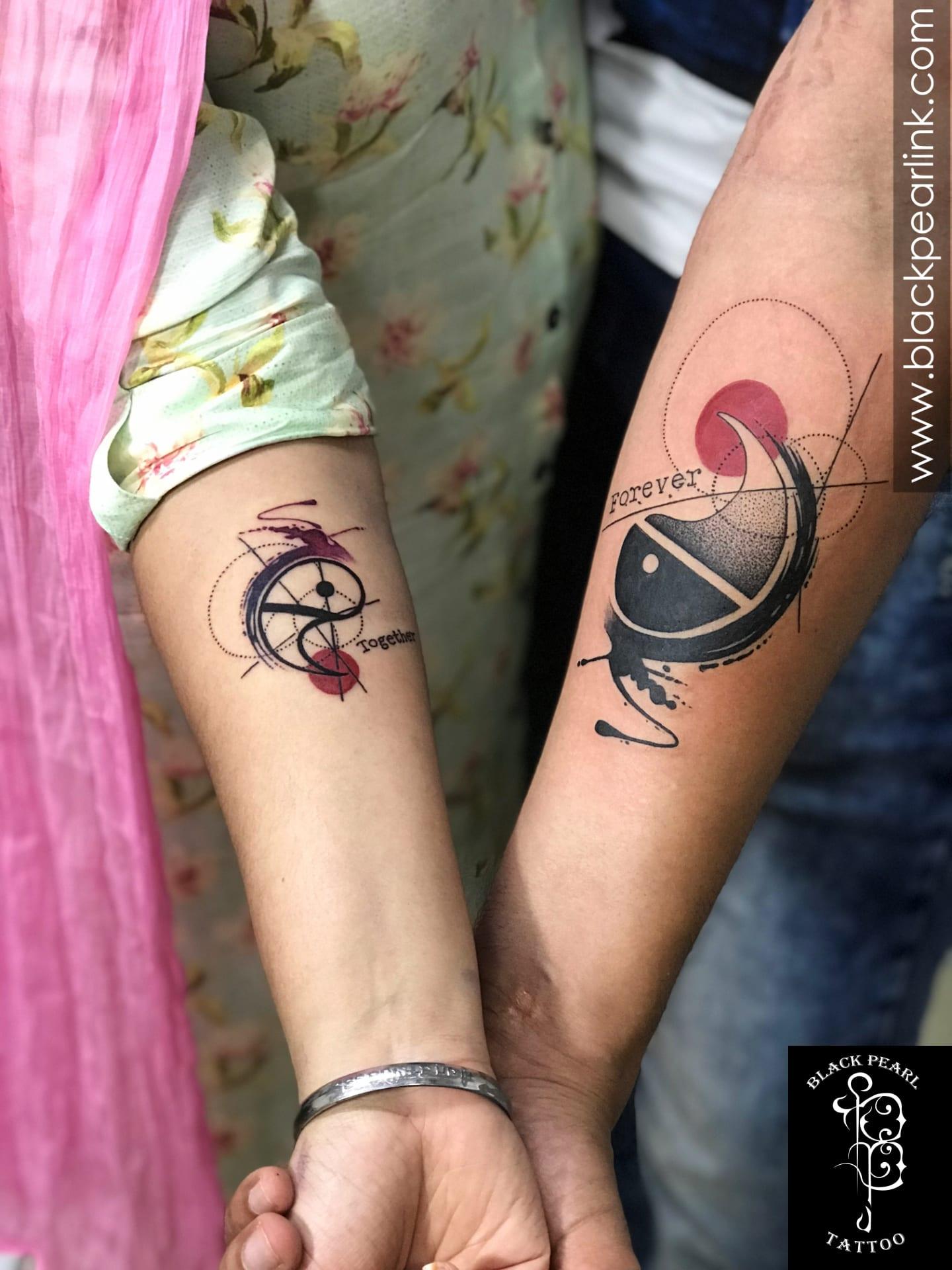 Yin Yang Couple Tattoo