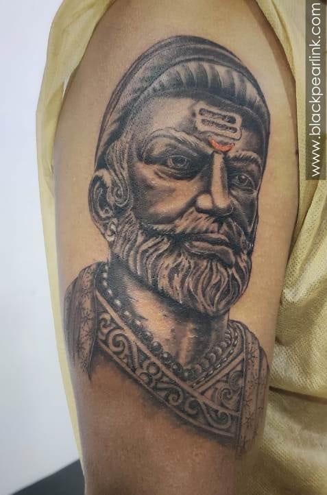 Chhatrapati Shivaji Maharaj Tattoo on Bicep