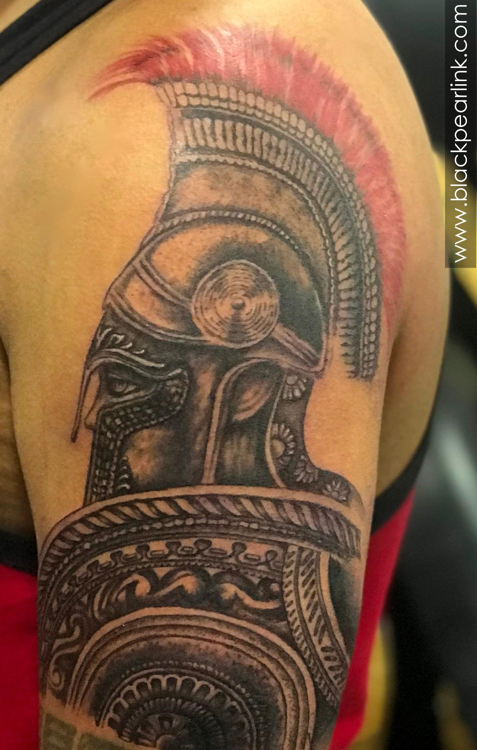 Roman Warrior Tattoo on Half Sleeve