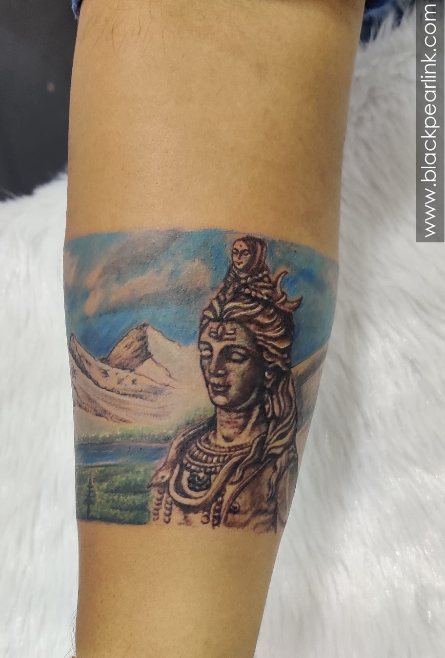 Shiva Themed Armband Tattoo